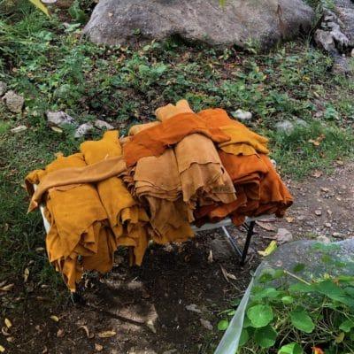 moose split leather