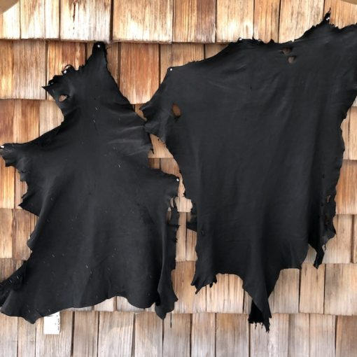 Black deer leather